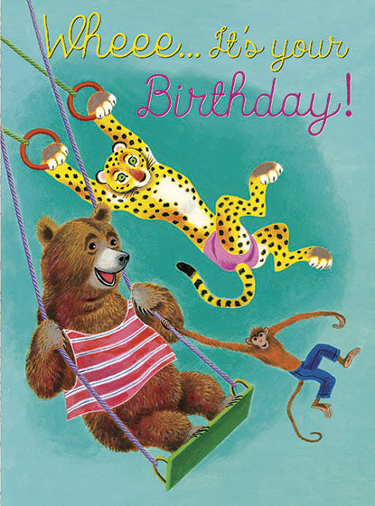 Card | Birthday | Swinging Animals