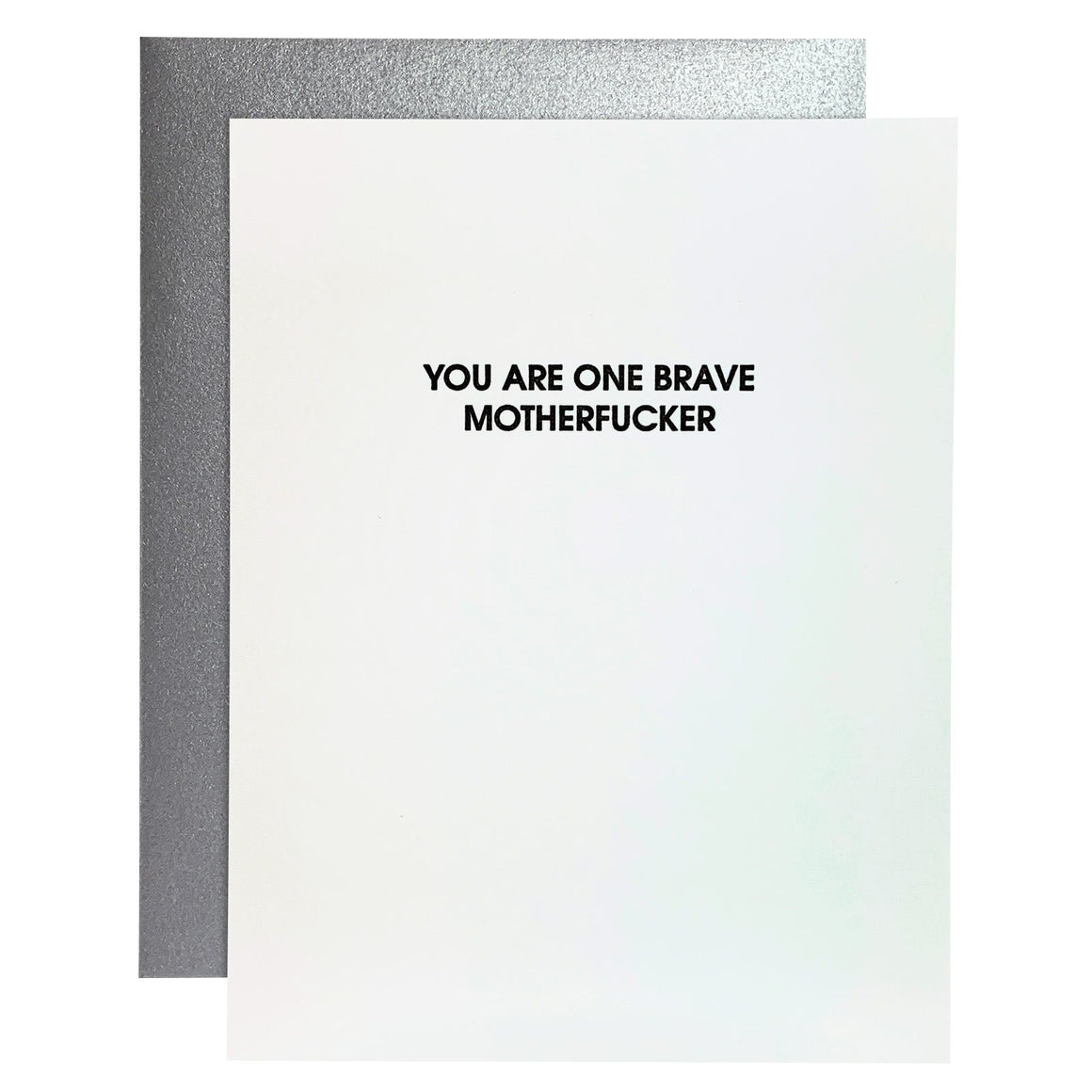 Card | Congratulations | One Brave Motherfucker