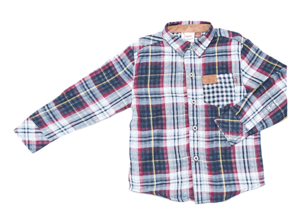Multi Plaid Long Sleeve Shirt