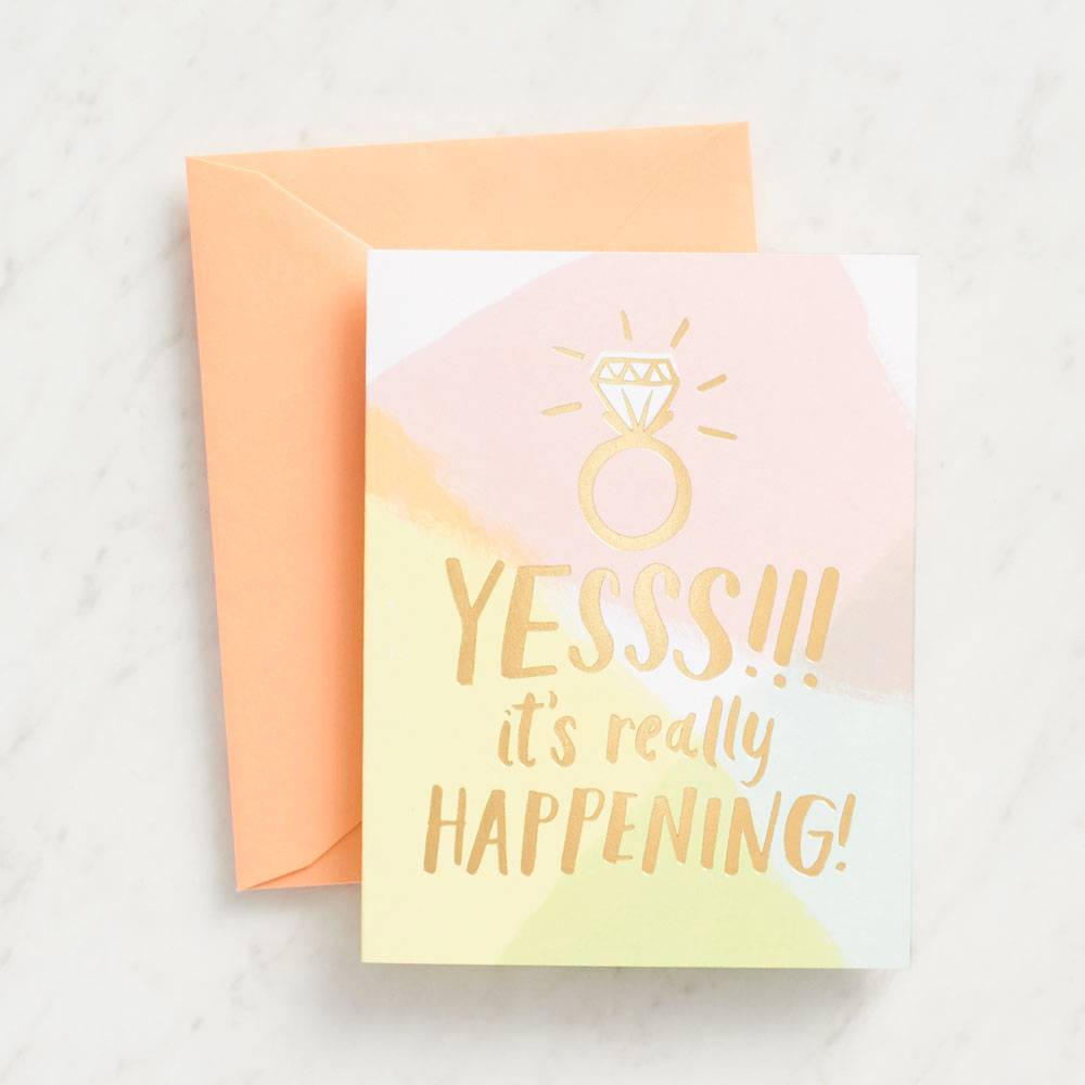 Card | Engagement | Gold Foil Yesss