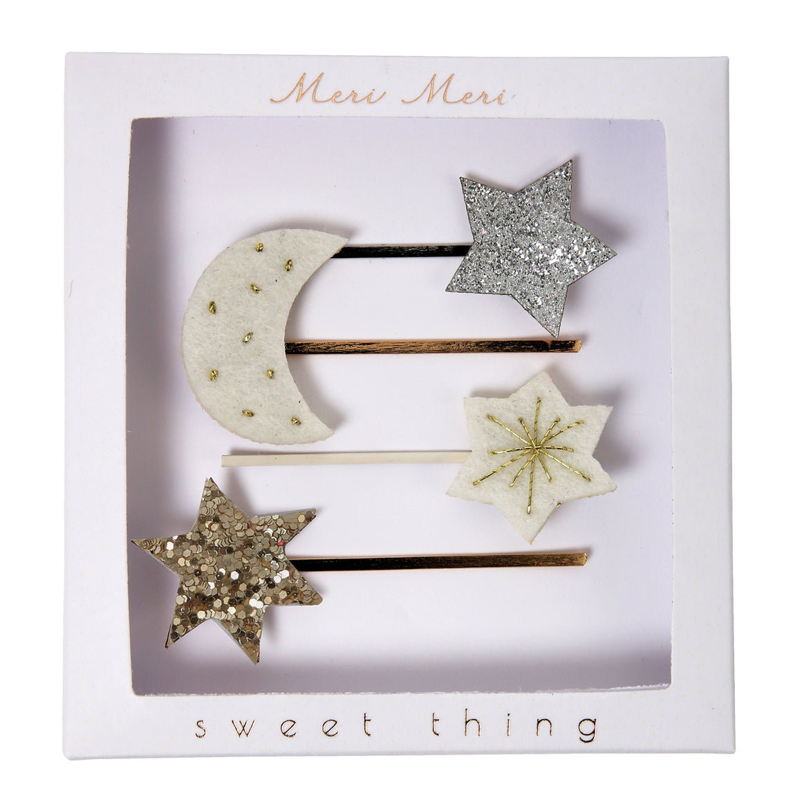 Hair Slides | Moon and Star