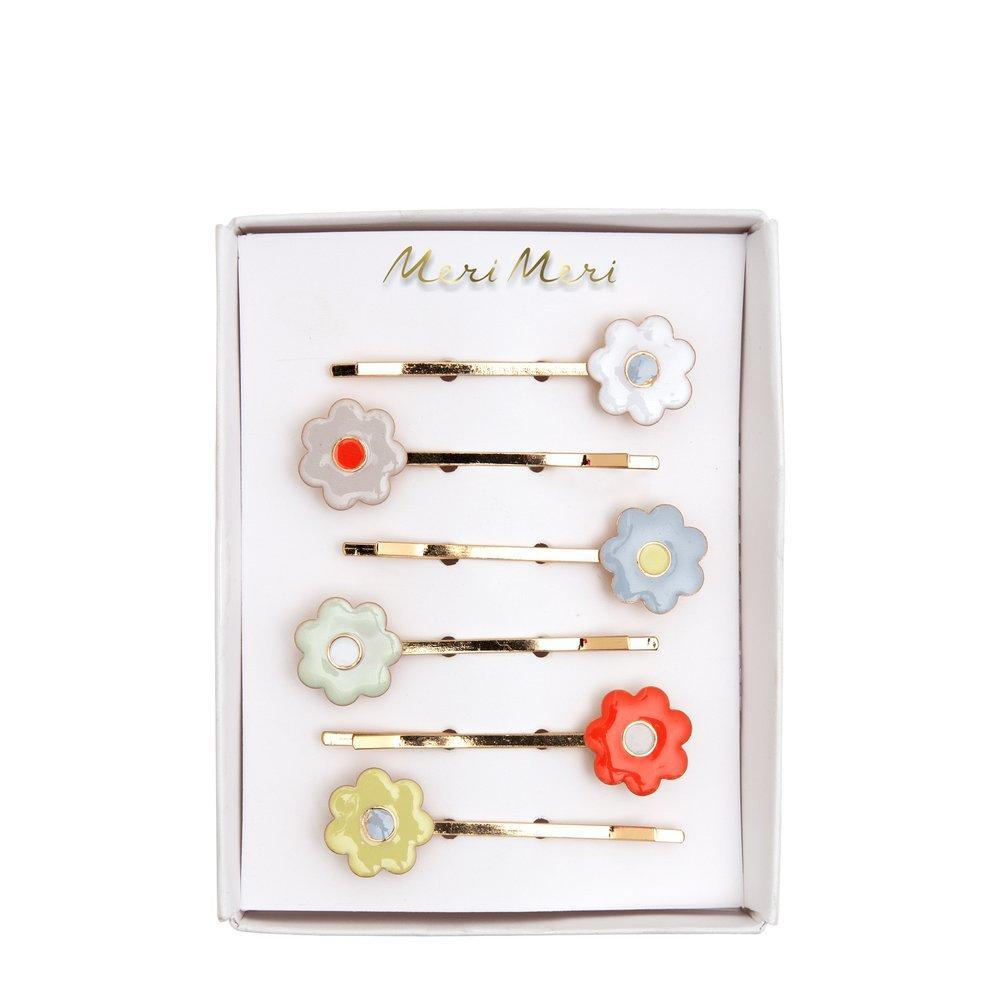 Hair Slides | Daisy Enamel