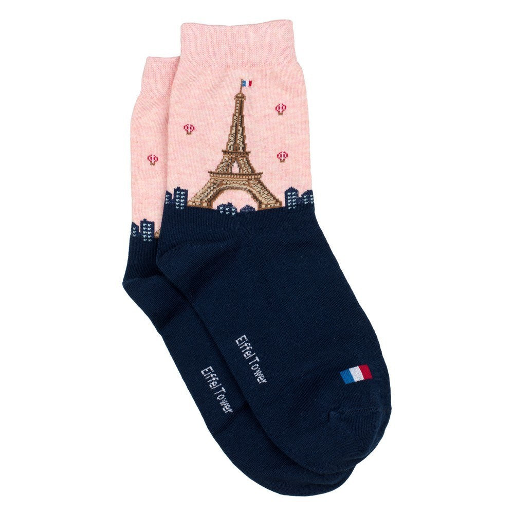 Socks | Cotton + Spandex | Eiffel Tower