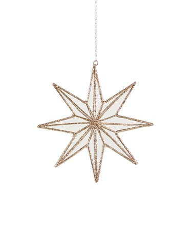 Ornament | Glitter + Mirror Star