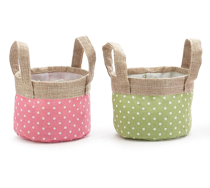 Canvas Pot Cover | Spring Polka Dot