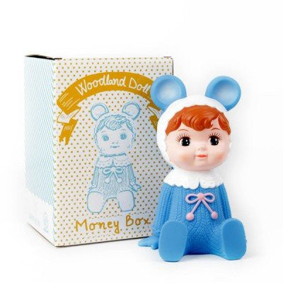 Woodland Doll Money Box | Blue