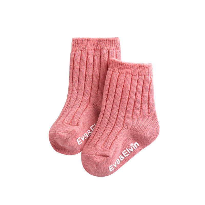 Over the Ankle Ribbed Socks | Pink