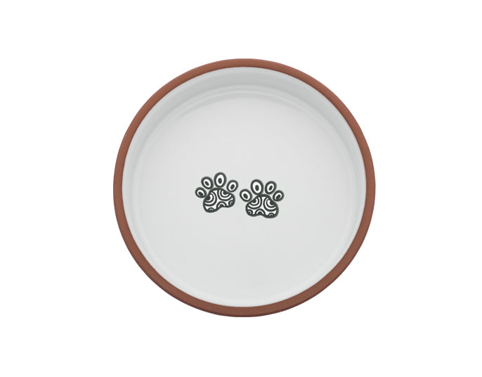 Medium Pet Bowl | Henna Paw in White