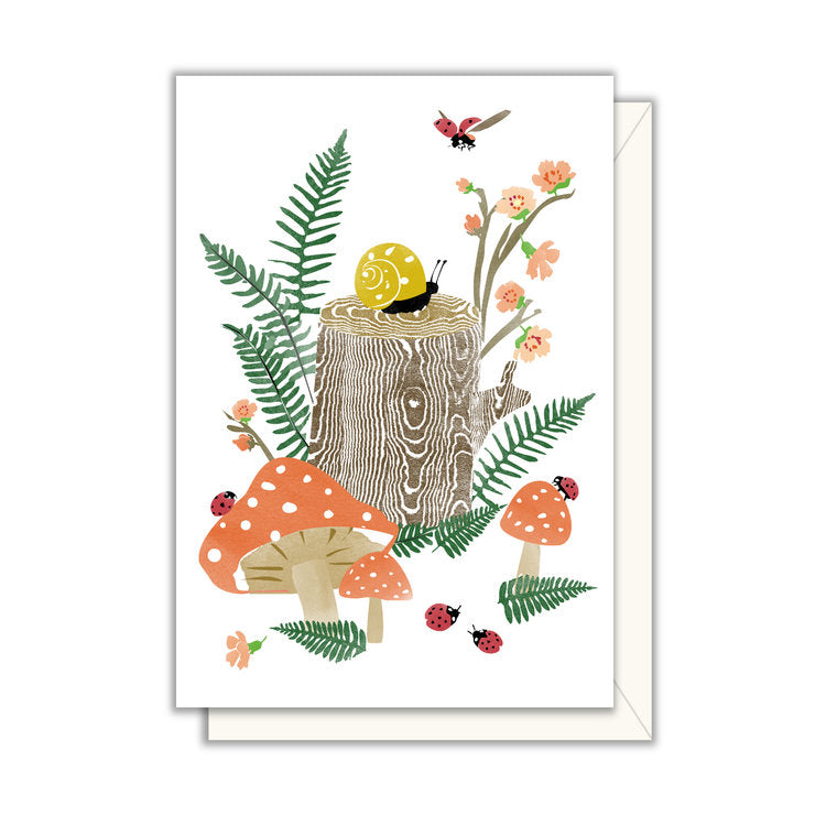 Card | Enclosure | Snail on Stump