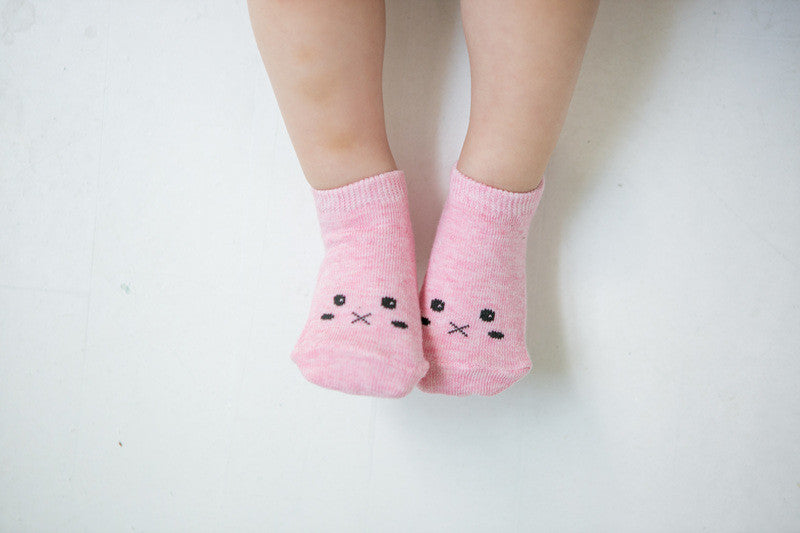Dimple Ankle Socks | Pink