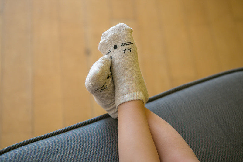 Good Night Ankle Socks | Beige