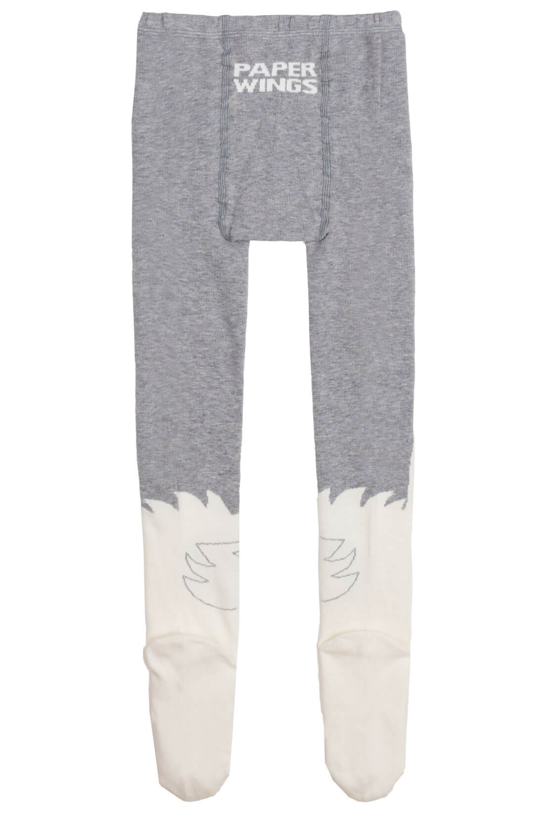 Swan Tights | Grey Cream