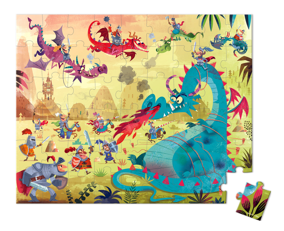 Puzzle | Dragons | Hat Boxed 54 Pcs