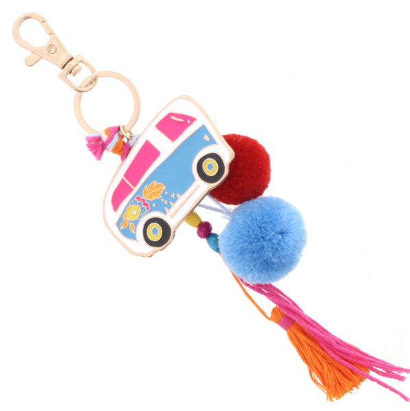 Keychain | Epoxy Camp Car with Tassel Accent