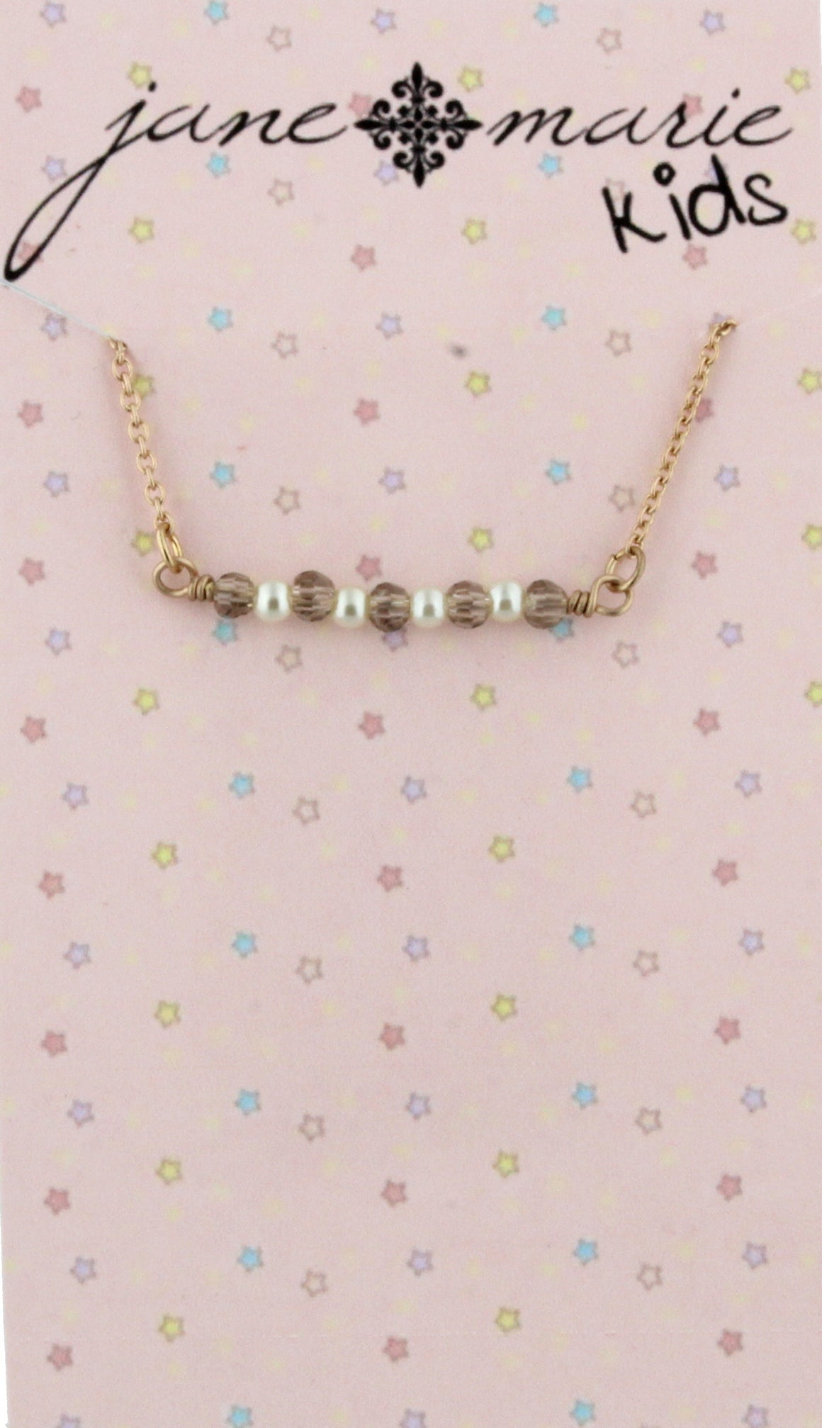 Beads and Pearls Bar Necklace