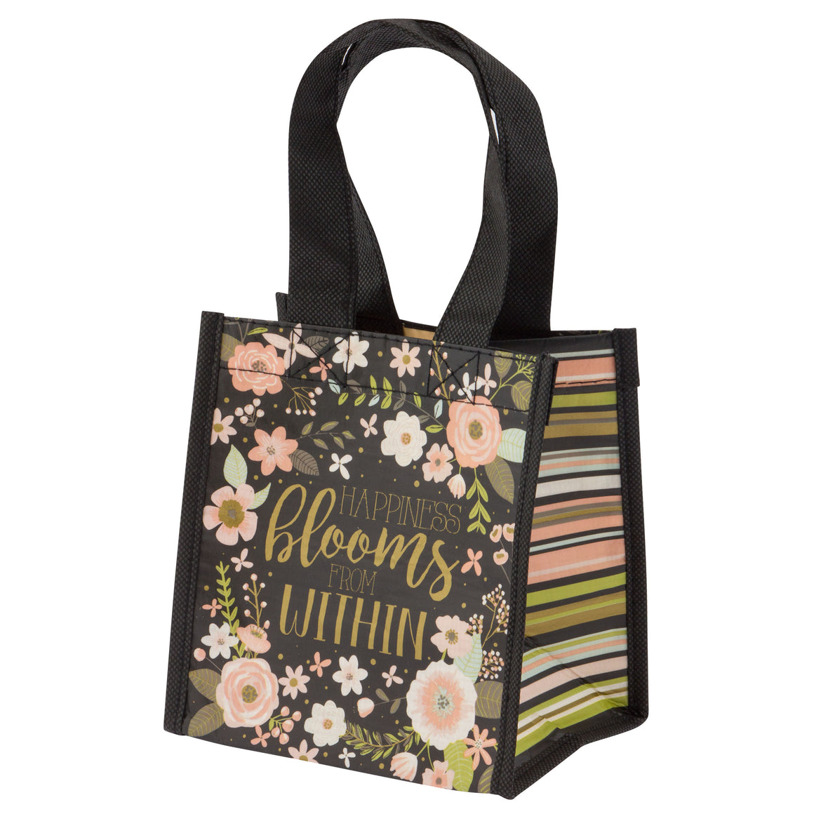Small Gift Bag | Charcoal Flowers