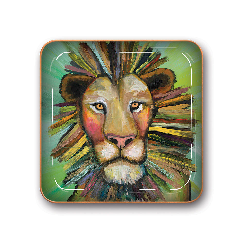 Metal Catchall Tray |  Majestic Lion | Small