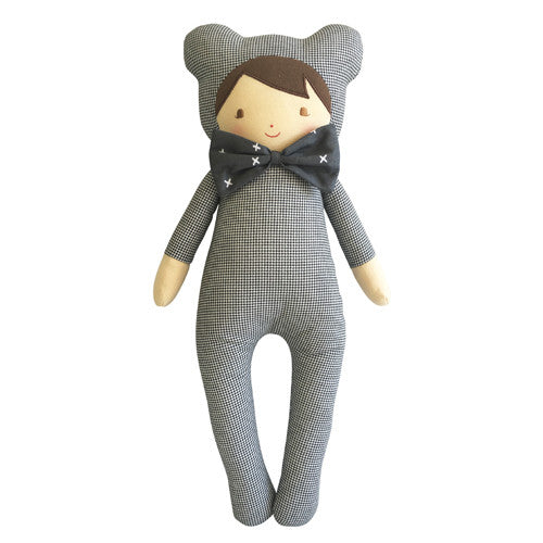 Baby in Bear Suit | Houndstooth