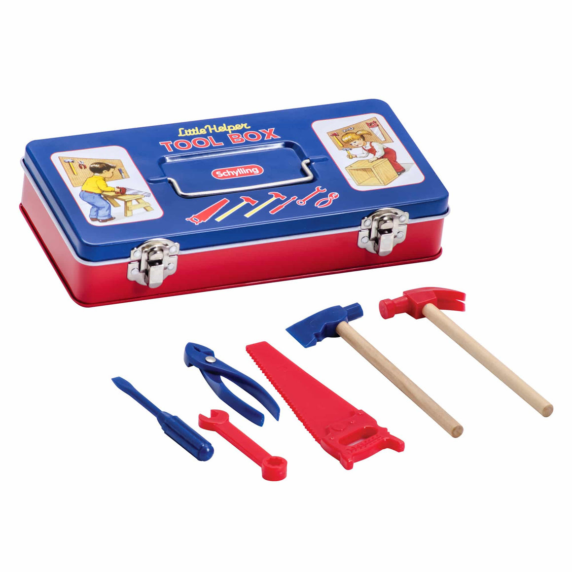 Toy | Tin Tool Box With Tools