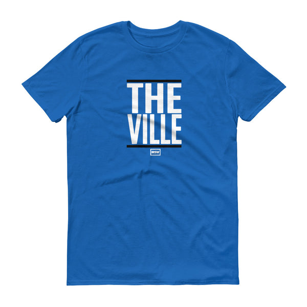 The Ville White Print Men's Tee - RocketCitees.com