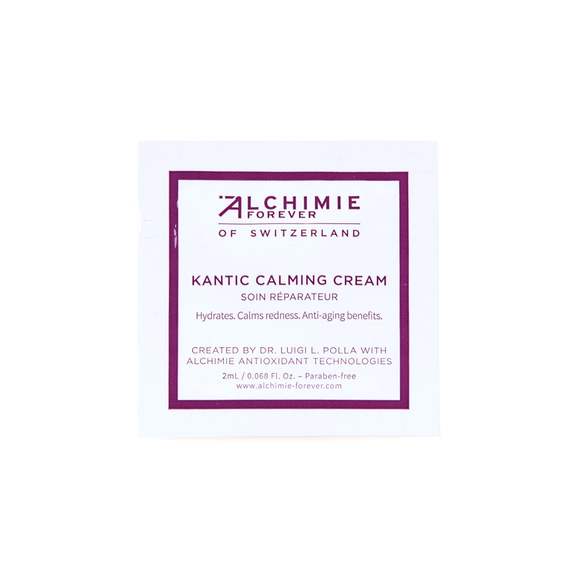 Sample Alchimie Forever - Kantic calming cream - 2ml