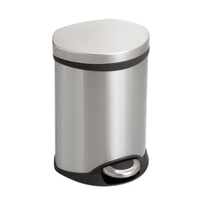 Safco 1.5 Gallon Stainless Steel Trash Can