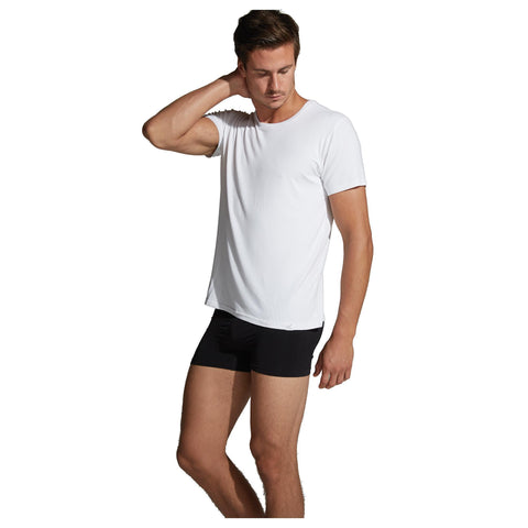 Image of Apparel White / Medium Boody Wear Men's Crew Neck T-Shirt