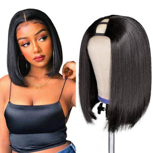 Straight Short Bob Upart Human Hair Wigs for Black Women