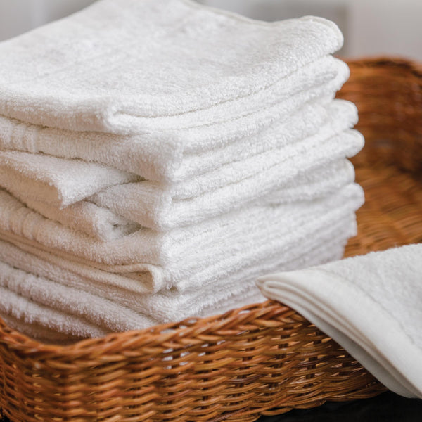 "Hand Towels & Wash Cloths White 13"" x 13"" Wash Cloths, 12 count"