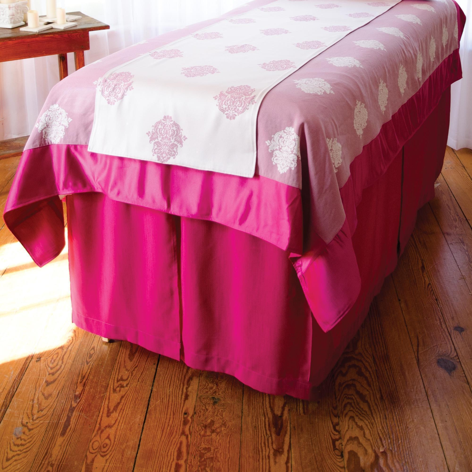 "Headrest, Face Cradle & Pillow Magenta / 32"" Sposh Table Skirt / Magenta / 32"""
