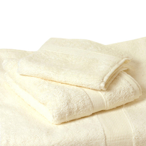 Towels Ivory Plush Terry Hand Towels / 6 count