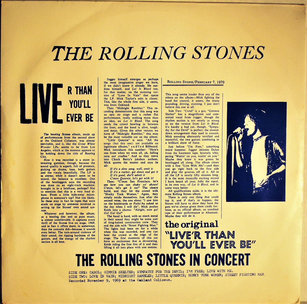 ROLLING STONES LIVER THAN YOU'LL EVER BE