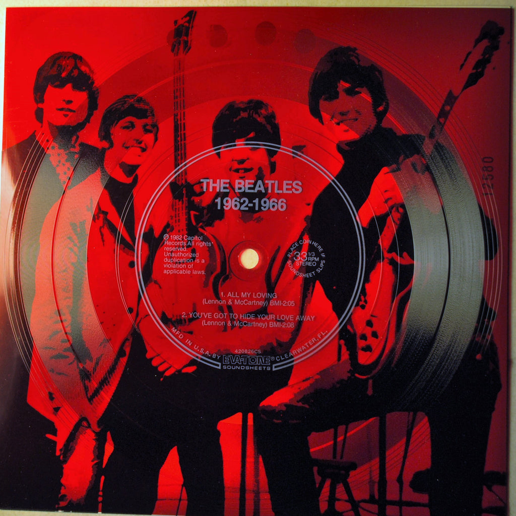 BEATLES RED WHITE & BLUE MUSICLAND FLEXI DISCS
