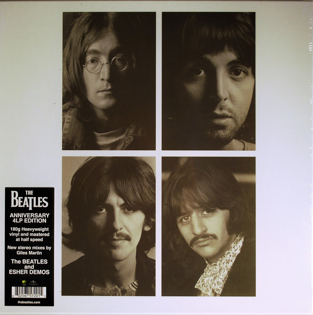 BEATLES 50TH ANNIVERSARY DELUXE 4-LP WHITE ALBUM