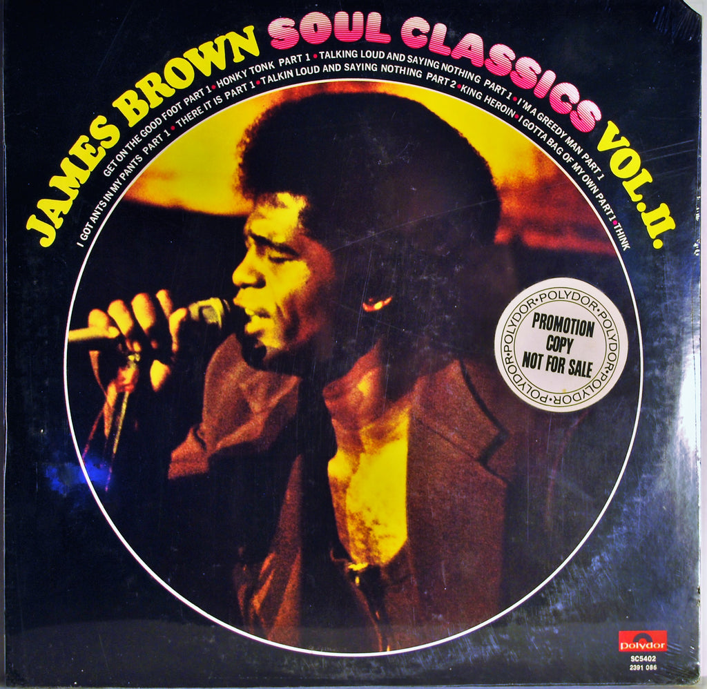 JAMES BROWN SOUL CLASSICS VOLUME 2 PROMO SEALED
