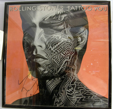 ROLLING STONES CHARLIE WATTS SIGNED ALBUM
