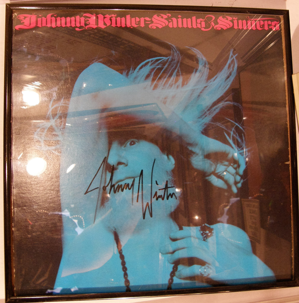 JOHNNY WINTER  SIGNED ALBUM COVER