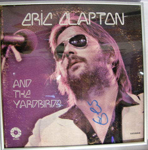 ERIC CLAPTON  SIGNED ALBUM COVER