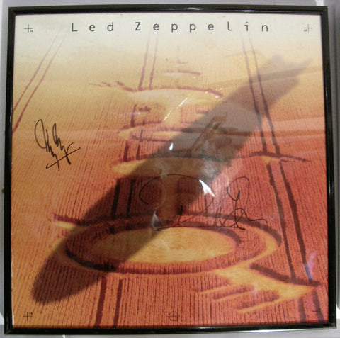 LED ZEPPELIN JIMMY PAGE & ROBERT PLANT SIGNED BOX COVER