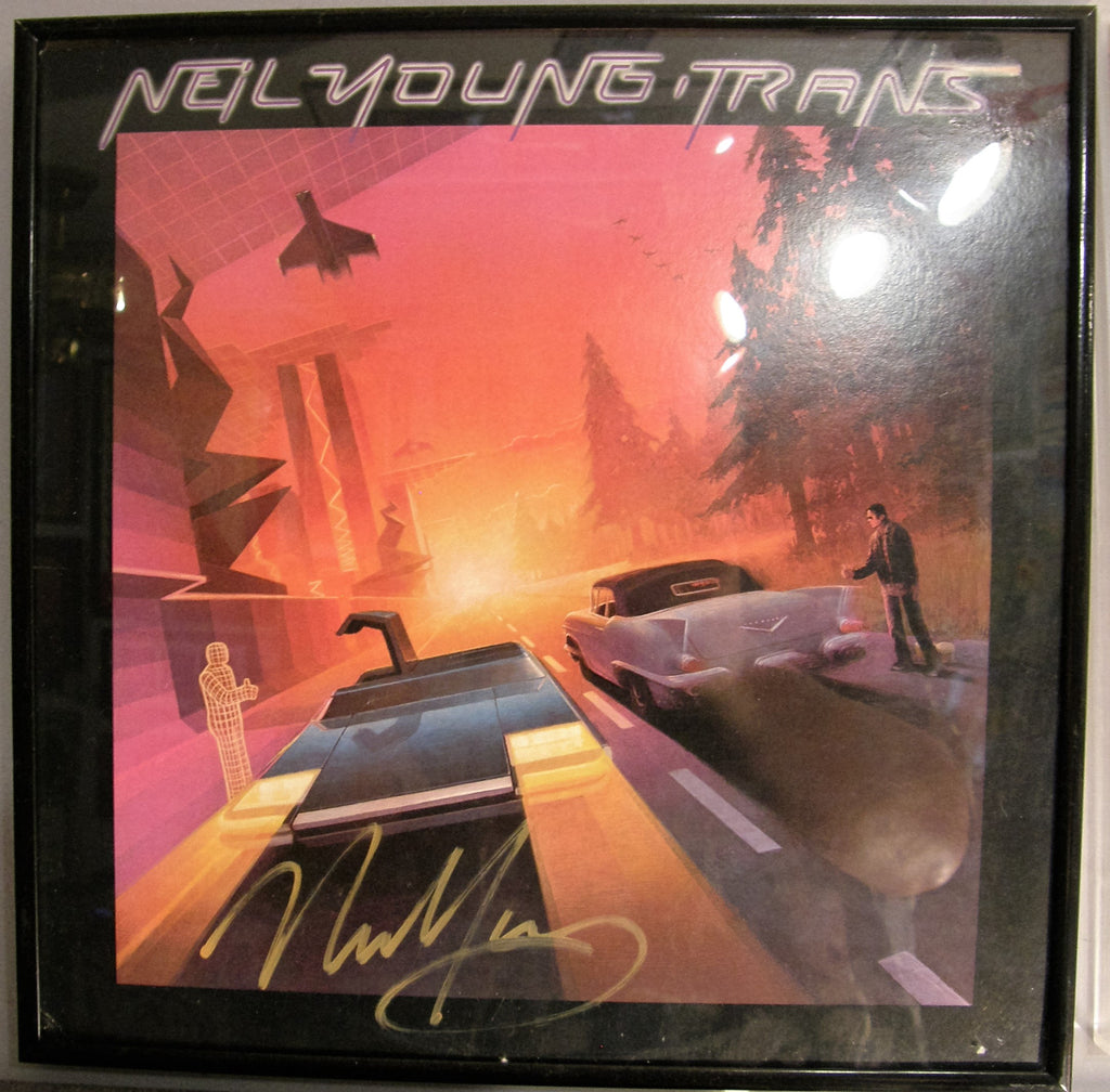 NEIL YOUNG  SIGNED ALBUM COVER