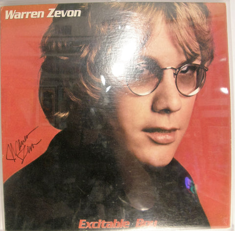 WARREN ZEVON SIGNED ALBUM COVER