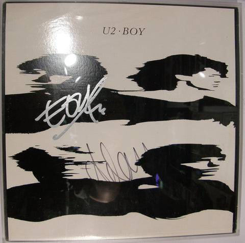 U2  EDGE ADAM CLAYTON  SIGNED ALBUM COVER