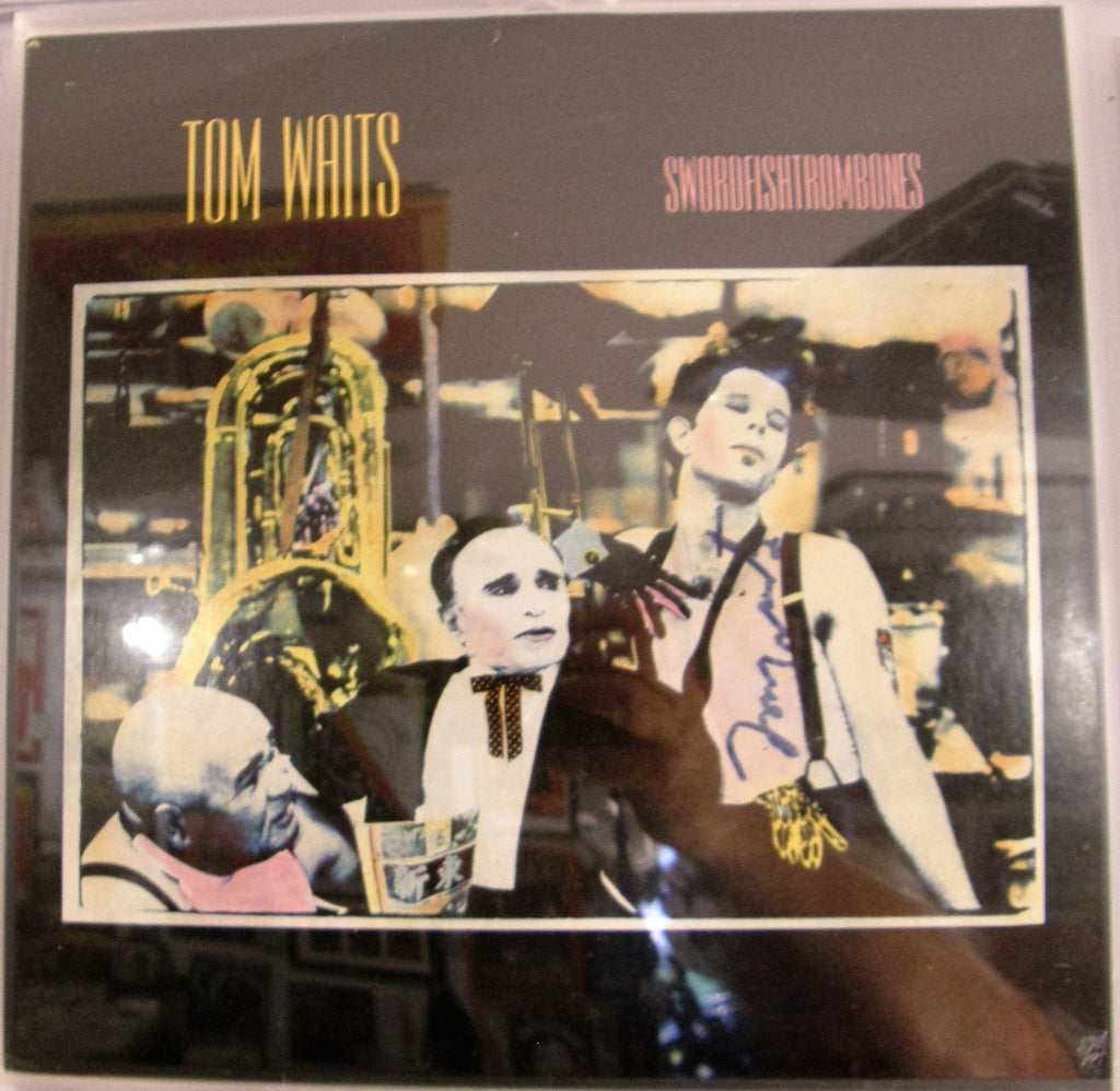 TOM WAITS  SIGNED ALBUM COVER