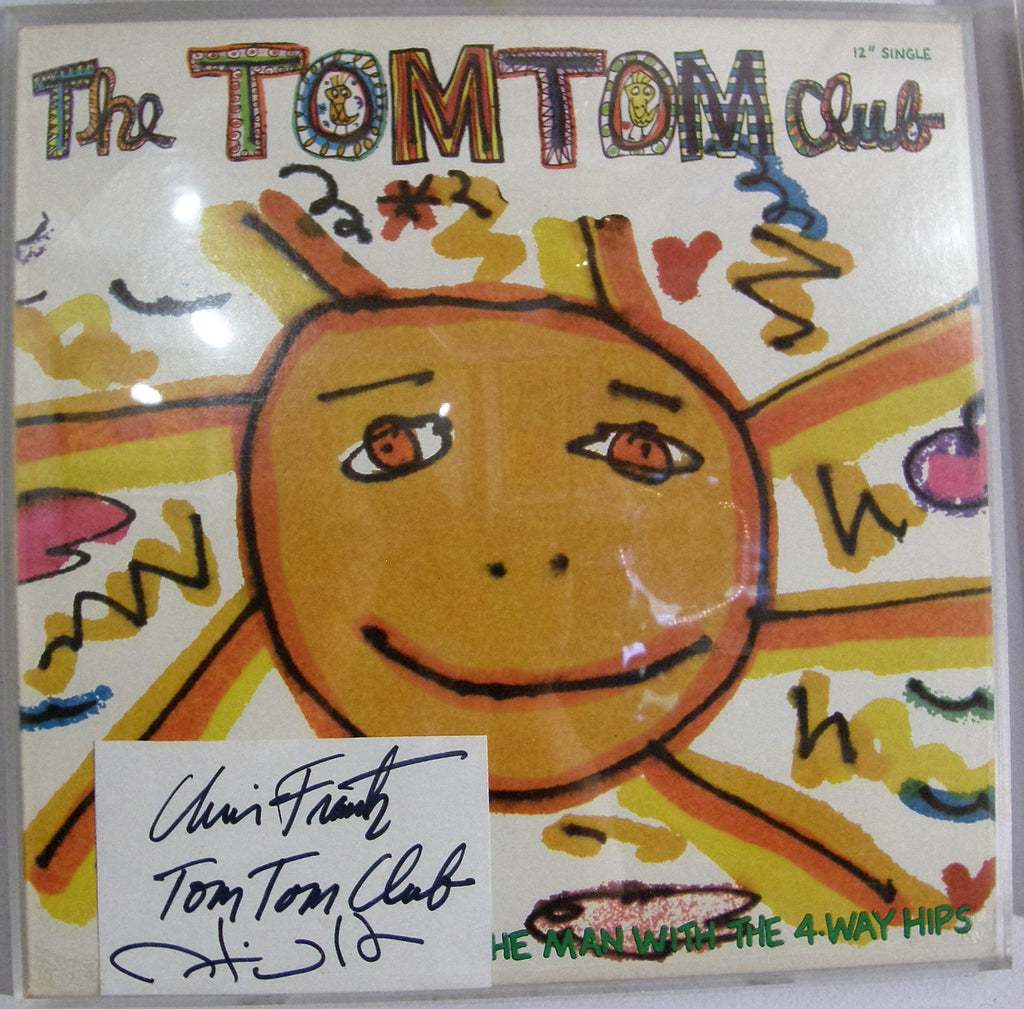 TOM TOM CLUB SIGNED  INDEX CARD