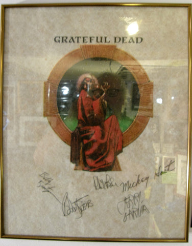 GRATEFUL DEAD  BAND SIGNED T-SHIRT PROOF
