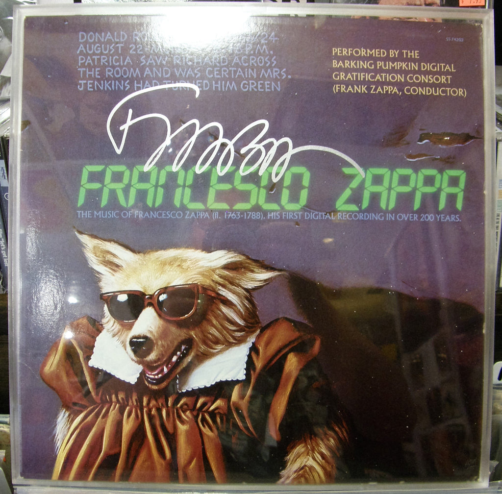 FRANK ZAPPA  SIGNED ALBUM COVER