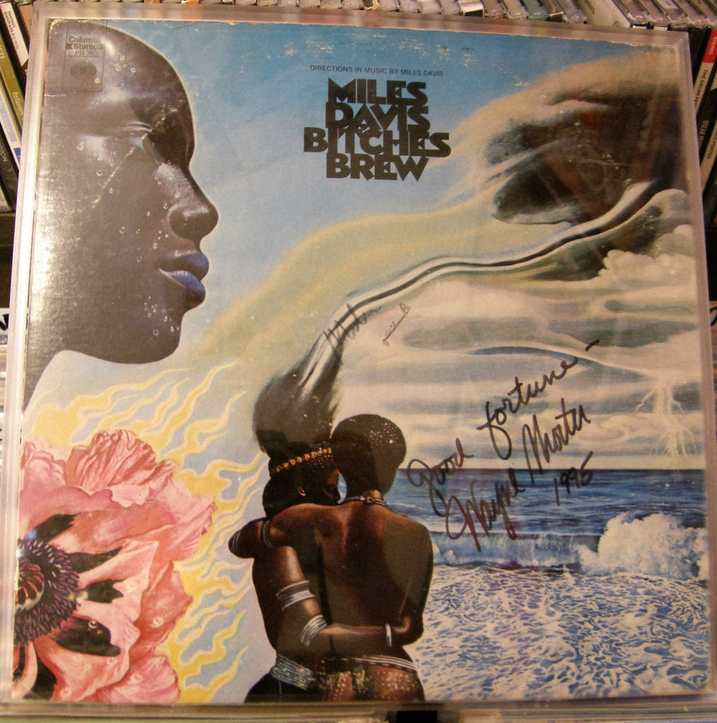 MILES DAVIS  WAYNE SHORTER  SIGNED ALBUM COVER