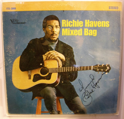 RICHIE HAVENS  SIGNED ALBUM COVER