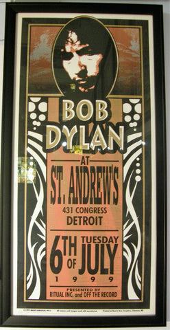 BOB DYLAN  ST.ANDREWS  DETRIOT 1999