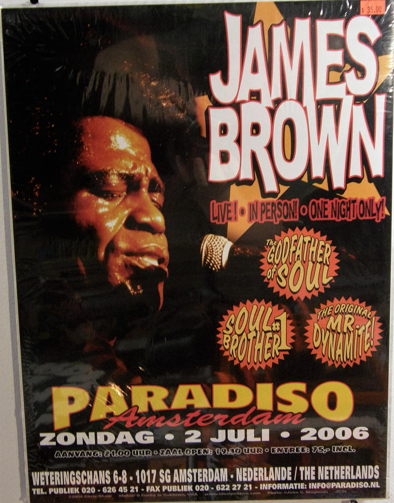 JAMES BROWN DUTCH TOUR POSTER 2006